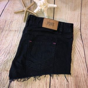 PINK VS Black denim shorts